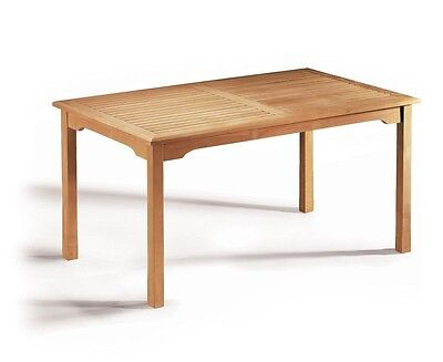 Hampton Fixed Teak Garden Table - 6 sizes - Grade-A Premium Teak Dining Table