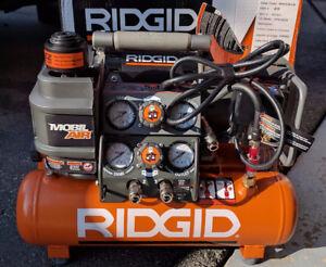 New RIDGID Tri-Stack 5 Gal. Portable Electric Air Compressor