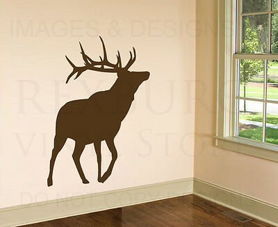 Elk Deer Large Wall Decal Vinyl Sticker Art Decoration Decor Mural Graphic -