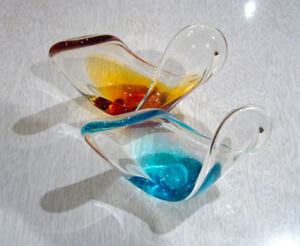 Art Glass - TWO Mini-Pieces