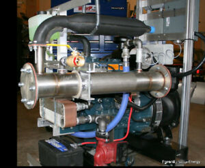 Diesel micro-CHP (Combined Heat and Power) unit