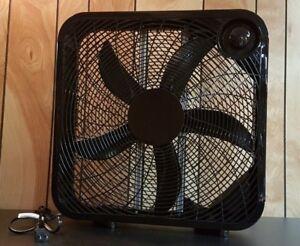 """20"""" Box Fan, black, 3 speed, like-new"""