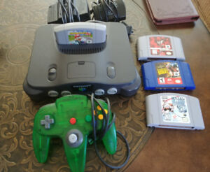 N64 with Game's, Mario Kart etc. $100