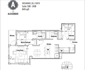 PRICE REDUCED!!2 bd/2 bth March 1st in The Alexander DT Halifax.
