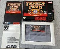 Super Nintendo Video Game - Family Feud w/Box & Instructions