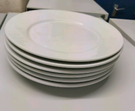 Plates - Quality Whlte Athena Hotelware Plates. Approximately 100 Piec