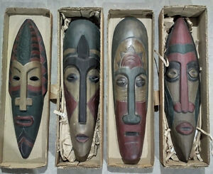 Vodoo mask wall hung carvings
