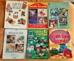 6 Craft books for sale (soap making, beanies, & more)