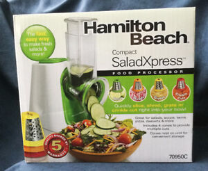 FOOD PROCESSOR - Hamilton Beach Compact SaladXpress - NEW