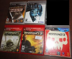 PS3 Games Like New/ Comme Neuf