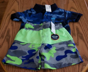 (SOLD PPU) NWT - Polo and Swim Trunks - 12-18M - TCP