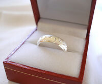 Sterling Silver Ring with Etched Circles