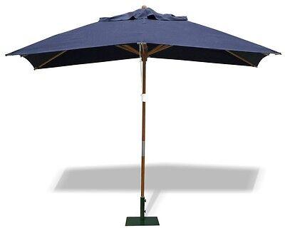 Rectangular Garden Parasol 3x2m- Garden Umbrella Shade- FSC hardwood - 5 colours