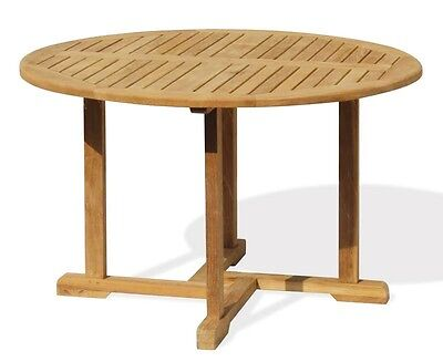 Sissinghurst Round Circular Garden Table 0.6m to 1.5m - Sustainable Grade-A Teak