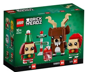 Lego Brickheadz Reindeer and Elves NEW