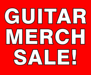 Guitar Merch Sale Hats Shirts Bar Items  Save 40-60%