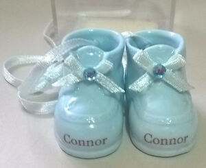 Genuine Porcelain Personalized Baby Boy Booties