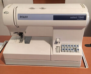Sewing machine and table, PFAFF Select 1540, like NEW