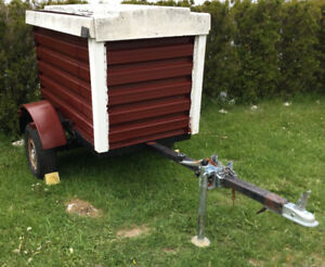 10 foot long  enclosed utility trailer