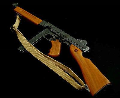 US Dragon 1:6 Weapon Model WWII Army Thompson Submachine Gun F 12'' Figure Toy  - Toy Submachine Gun