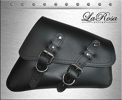 2004 & UP La Rosa Black Leather Harley Sportster Nightster Right Mount Saddlebag