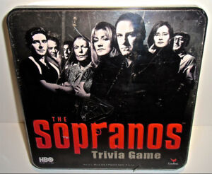 The SOPRANOS Trivia Game NEW Sealed Metal Box
