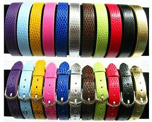 10pcs-8-210mm-DIY-PU-Leather-Snake-skin-Wristband-Fit-8mm-Slide-Charms-WB001