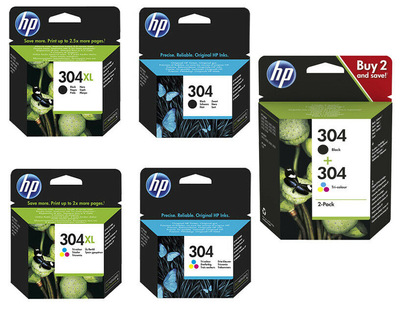 Original HP 304 / 304xl Druckerpatronen N9K05AE N9K06AE N9K07AE N9K08AE