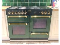 Electric Green With Gold Range Cooker Rangemaster 110 LIKE NEW CONDITION!!! - LOCAL FREE DELIVERY