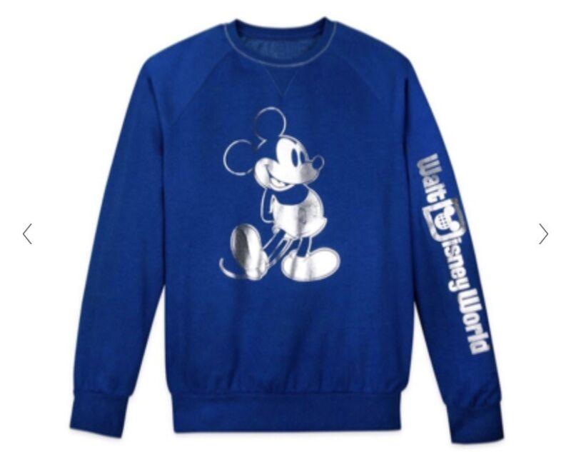 Walt Disney World Wishes Come True Blue Sweatshirt Size Unisex Small NWT!