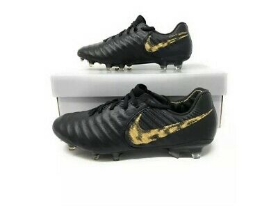 Nike Tiempo Legend 7 Elite FG ACC Soccer Cleats Black Gold AH7238 077 Size 8.5