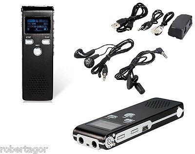 MINI REGISTRATORE DIGITALE 8 GB USB VOCALE E TELEFONICO SPIA VOX RICARICABILE