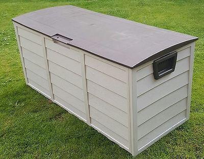 Storage Garden Plastic Shed Outdoor Box Large Patio Cabinet Garage Store Brown