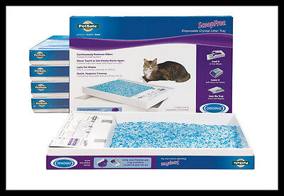 6x Petsafe ScoopFree Litter Tray Refills with Premium Blue Crystals