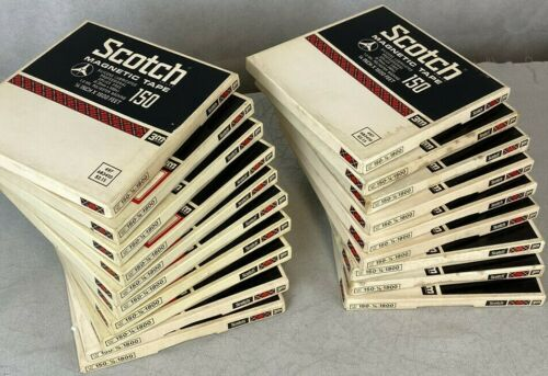 SCOTCH 150 REEL TO REEL TAPE (19) VARIOUS PRE RECORDED TAPE