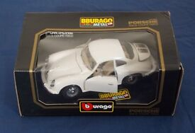 Burago 1:18 metal Porsche 356B Coupe (1962) - like new, boxed. Only opened to photograph it.