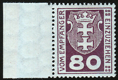 Danzig Portomarken Mi.Nr. 6 b postfrisch geprüft BPP Mi.Wert 75€ (5388)