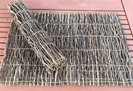 "I have 8 x Unusual Wooden/Twig Place mats, 19"" x 13"", They roll up for easy storage"