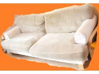 Very Comfy Ikea Four Seater Beige Sofa