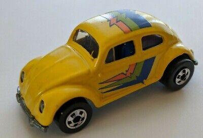 1991 Hot Wheels Park 'n Plates VW Volkswagen Bug - Yellow Basic Wheels (CUSTOM!)