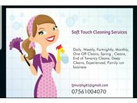 Soft Touch Cleaning Services Domestic Cleaning, Weekly, Daily, Fortnighly, One off Cleans