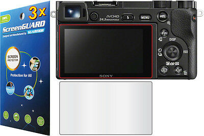 3x LCD Screen Protector for Sony Alpha NEX-7 NEX-6 A5000 A5100 A6000 A6300 A6500