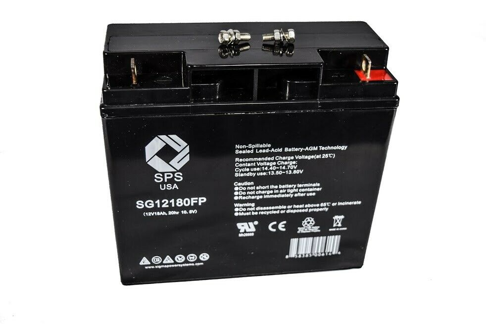 12v18ah sla rechargeable replacement battery for amigo