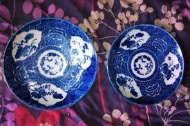 A pair of Antique Japanese Arita Ko - Sometsuke Plates