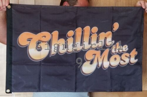 Kid Rock Chillin the Most flag banner man cave 2x3 RV Boat DOUBLE SIDED chilling