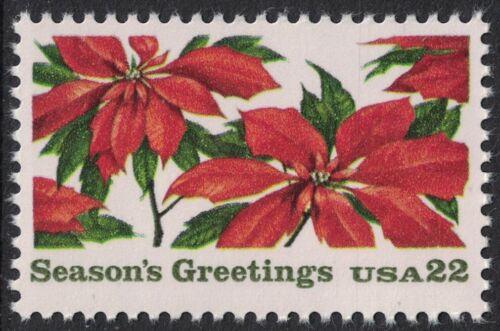 Scott 2166- Poinsettia Plants, Christmas- 22c MNH 1985- unused mint stamp