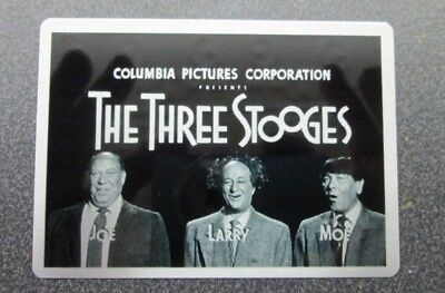 THREE STOOGES  THEATER CARDS 2017 METAL TOPPER CARD NO.9 OPENING CREDITS 57-59 (Three Stooges 2017)