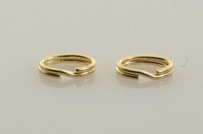 - Slide Bracelet Oval Split Ring Jump Ring 14k Yellow Gold - Set of 2