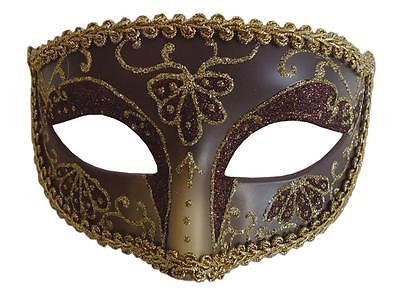 MARDI GRAS CARNIVAL FESTIVAL OPERA GOLD MASK MASQUERADE COSTUME MR031444 - Halloween Mardi Gras Festival