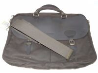 Unused as new Barbour leather & wax cotton laptop briefcase
